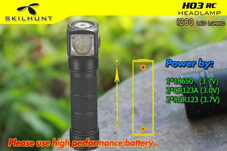 H03 RC USB magnetic rechargeable LED headlamp 4