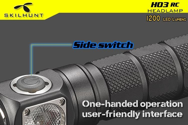 H03 RC USB magnetic rechargeable LED headlamp 9