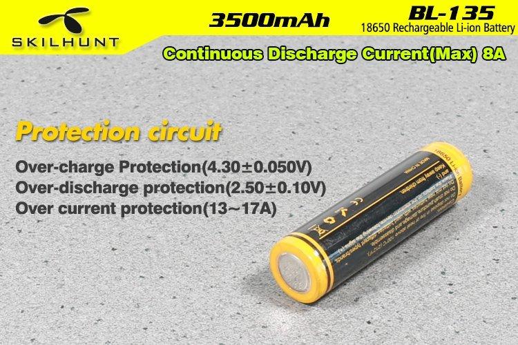 18650 BL-135 3500mah battery